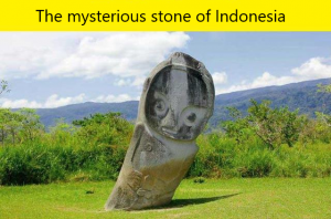 The mysterious stone of Indonesia